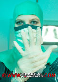 Rubber gloves and facemask for fantasy nurse