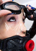 Transparent facemask and mouth gag
