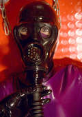 Breathcontroll training vor Vinyl slavegirl