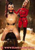 Two rubber dolls play in the dungeon