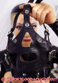 Leather facemask for slave