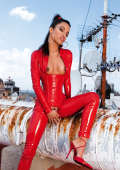 Zuleidy red Latex fuck