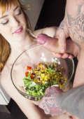 Fetish teen gets Cum in Her Salad