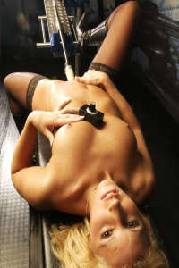 Blonde fucked by sexmachine