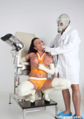 Latex girl and masked doctor 4 pussy check
