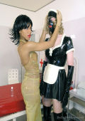 Exotic Latex Domme and rubber maid
