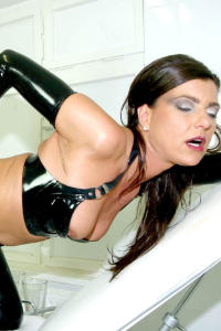 Latex whore MONICA close up