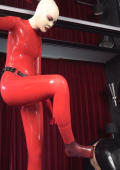 Rubber slute Narzisse dominating slave