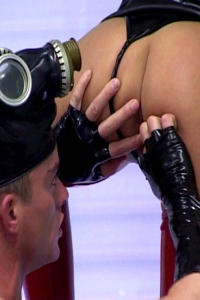 Hot RUBBER BITCH in the dungeon play
