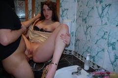 Toilet bitch Laura fucked hard