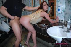 Toilet bitch Laura giving ass